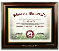 ALABAMA Football Fan Certificate / Diploma Man Cave GIFT CHRISTMAS
