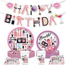 Makeup Birthday Party Supplies Spa Birthday Supplies Spa Party Plates Salon Part