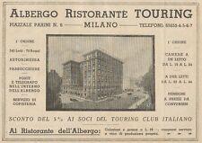 Z1158 Albergo Ristorante TOURING - Milano - Pubblicità d'epoca - 1933 Old advert