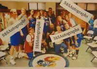 Vintage 1998 Kansas Jayhawks Basketball Photo Wilt Chamberlain Paul Pierce KU