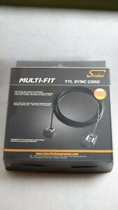 Multi Fit TTL Flash Sync Cord Cable for Nikon Canon Fuji Cameras 32Ft NEW