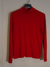 WOMEN'S WHITE STAG TURTLE NECK LONG SLEEVED KNIT RED PULLOVER SZ  MED