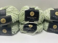 Lot Of 6 Skeins Filati - Italia 21 - Color Light Green