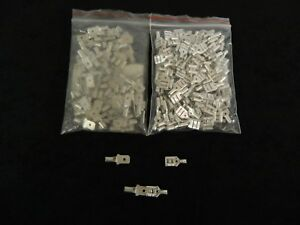 50 PK 14-16 GAUGE UNINSULATED QUICK DISCONNECT FEMALE MALE .250 25 PCS EACH