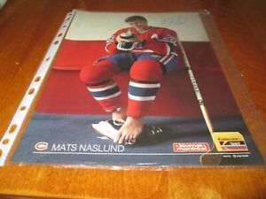 MATS NASLUND MONTREAL CANADIENS POSTER COLOR 8 BY 11 1988-1989