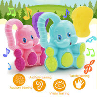 Baby Cartoon Elephant ABS Shaking Rattles Bell Kids Early Educational Toy Gift