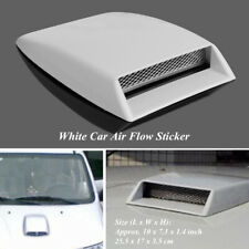 Car White Hood Air Flow Intake Vent Front Grille Decorative Cover SUV 3D Styling