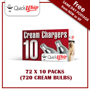 QuickWhip - 10 PACK X 72 (720 Cream Chargers) - Pure Nitrous Oxide N2O