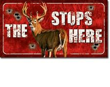 "16""W x 8.5""H   Buck Stops Here Tin Sign"
