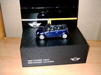 Modellauto MINI Cooper  Cabrio black-eye-purple  ( Blau) R52   M 1:43