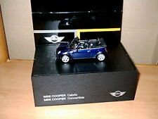 Modello di auto MINI COOPER CABRIO BLACK-Eye-PURPLE (BLU) r52 M 1:43