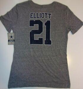 New Dallas Cowboys NFL Football jersey style women's 2XL Ezekiel Elliott shirt