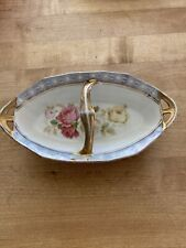 Vintage Roses Shabby Chic French Country Style Relish Tray