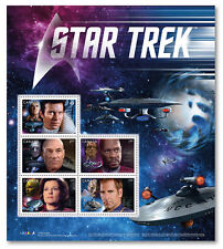 STAR TREK 50TH -YEAR 2 ISSUE -SOUVENIR SHEET SEALED - 5 STAMPS CANADA 2017 -MINT