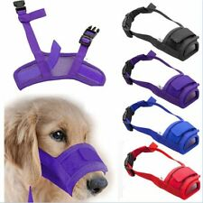 S-XXL Adjustable Pet Dog Mask Bark Bite Mesh Mouth Muzzle Anti Stop Chewing FAST
