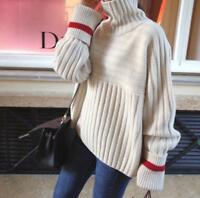 Women Casual Long-sleeve Solid Color Casual Outdoor Pullover Turtleneck Sweater
