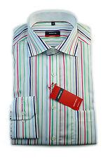 Eterna Camicia Modern Fit multicolore a strisce con patch tg. 38/4189.45.x157