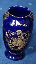 Chinesische Porzellan Vase Kobalt Gold 20cm