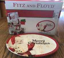 Fitz and Floyd Tray Letters to Santa, Sentiment Platter Plate New In box