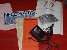 VINTAGE FOSTEX X-26 MULTITRACKER OWNERS MANUAL/SERVICE GUIDE WITH ADAPTER 1988