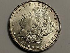 1887~P Morgan Silver Dollar BU Frosty,High Luster, Honey Tone Collectors coin NR
