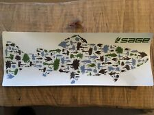 SAGE Fly Rod Trout Flies Large sticker