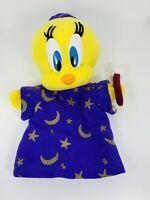 1997 Looney Tunes Tweety Bird Hand Puppet Wizard Plush