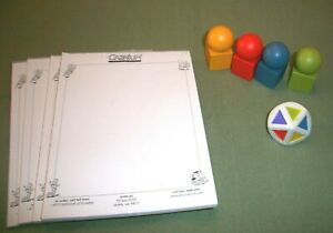 Cranium Board Game Replacement Tokens/ Movers Pawns Dice & Tablets