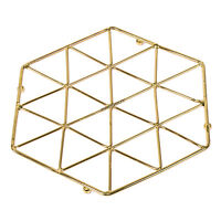 Gold Metal Wire Trivet Kitchen Worktop Surface Protector Hot Pan Kettle Stand