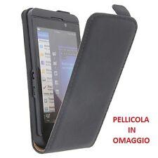 CUSTODIA PORTACELLULARE FLIP CASE EXCLUSIVE + PELLICOLA per HTC DESIRE 200 NERO