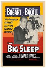 Film Noir: * The Big Sleep * Humphrey Bogart & Lauren Bacall Movie Poster R-1954