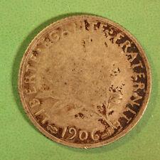1906 France Silver 1 Franc SNo22645