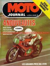 MOTO JOURNAL  279 MAICO GS 250 KAWASAKI Z 650 SUZUKI GS 750 400 BMW /7 1976