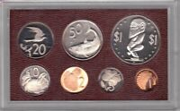 COOK ISLANDS - 7 DIF PROOF COINS SET: 1 CENT - 1$ 1975 YEAR MINT IN PLASTIC