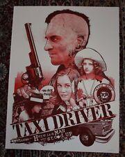 Taxi Driver art movie poster print joshua budich scorsese deniro Glow Variant