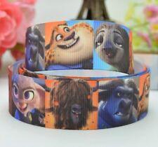 """BTY 7/8"""" Cute Disney Zootopia Grosgrain Ribbon Hair Bows Lanyards Lisa"""