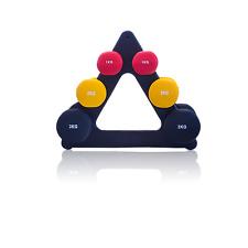 12kg haltère weighttraining home gym fitness exercice entraînement stand set. femme + m