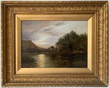 JOHN ST HELIER LANDER | Antique Oil Painting on Canvas | Gilt Frame