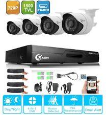 XVIM 4CH 1080N 1500TVL Home Security CCTV System HDMI DVR Outdoor IR Cameras kit