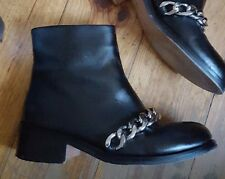 Givenchy Laura Black Leather Chain Boots Size 37 UK 4 Harrods Asos