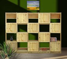 Regal, Kiefer, neu,155/215/35 cm/Türen