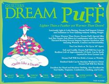 """Quilt Batting Quilters Dream Puff Twin Size Quilting Sewing Crafting 93"""" X 72"""""""