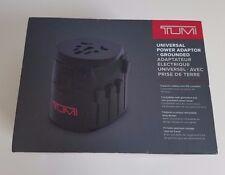 Tumi Universal Wall Plug Power Adapter & Storage Case for US, Europe, Asia, SA