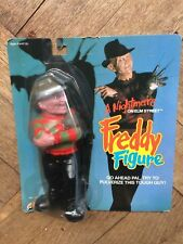 "FREDDY KRUEGER figure , Tough rubber figure, LJN Toys, 1989,  MIP, 8"" tall"