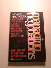 Managing Negotiations: A Guide for anyone who wnats to win: 1980