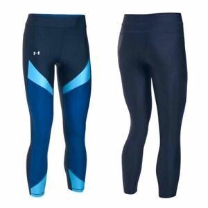 Under Armour Womens Heatgear Colour Block Ankle Leggings Gym Tight 1292129 410