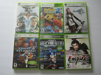 Lot of 6 Xbox 360 Games Soul Caliber 4 Final Fantasy XIII Pac-Man 2