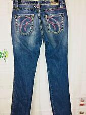 Women's Coogie Designer Jeans Multicolored Bling Hip Hop Straight Denim 9/10