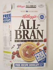 Kellogg's Cereal Box 1997 ALL BRAN Blackberry Streusel Bar RECIPE 18.3 oz