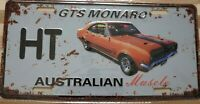 HOLDEN HT GTS MONARO Metal Signs Australian Muscle Cars MAN CAVE SHED BAR